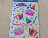 Stickopotamus Birthday Cake and Hearts Stickers for Scrapbooking or Cardmaking mid 2000's Two for One Price