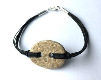 Beach Rock and Linen bracelet beach bracelet summer bracelet climbing graduation gift
