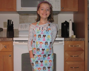 Kids Aprons - Aprons for Girls - Princess Party