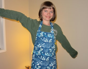 Kids Aprons - Aprons for Girls - Underwater Dragonfly Garden