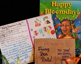 FAIRY PEN PALS Monthly Postcard Snail Mail Delivery, Audio Book, DIYs, Videos