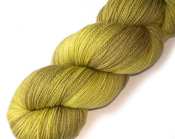 Lace Yarn Glimmer Merino and Silk - Golden Olive, 870 yards