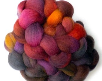 Falkland Roving Handdyed Combed Top - Aspire to More 6.0 oz.