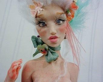 Marie Antoinette Merry Widow OOAK Art Doll by Moninesfaeries