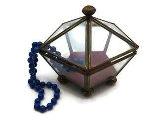 Clear Glass Box Display Case - Geometric Glass Jewelry Box