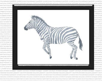 Zebra Wall Art, Print, Digital Art