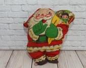 Vintage Primitive Stuffed Santa Figure Doll