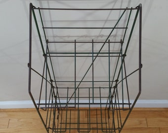 Vintage Store Fixture Folding Green Rack Display
