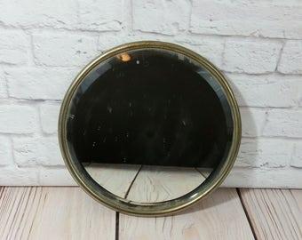 Vintage Round Port Hole Style Hanging Mirror