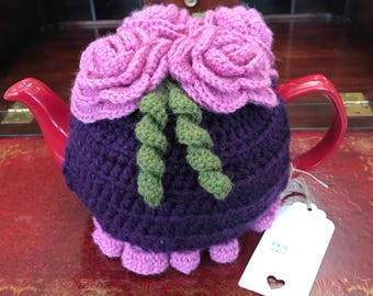 100% Wool Crochet Tea Cosy and Teapot