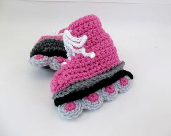 Baby Booties Roller Blades In-Line Skates Crochet Booties MADE TO ORDER
