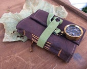 Small travel journal with compass and map of Rome, Italy /Pocket Sized