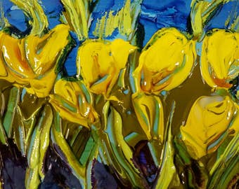 Abstract flowers, yellow floral, spring flowers, crocus, yellow crocus, yellow, purple, green, floral,