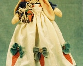 On Sale 20% Off Cloth Doll E-Pattern- 21in Country Girl Bunny doll Epattern