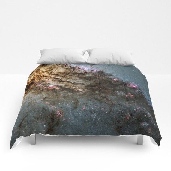 Star Formation Comforter, Black Decorative bedding, unique design, Space comforter, Noir Bedroom, Goth, Nature, Planets, Stars, Dorm, Duvet