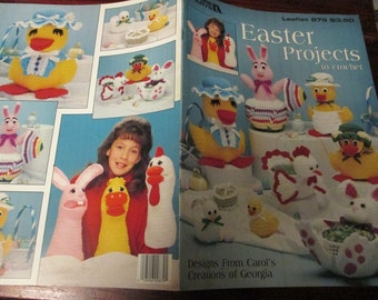 Holiday Crochet Patterns Easter Projects Leisure Arts 879 Crocheting Pattern Leaflet