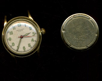 14k UNIVERSAL GENEVE 1945-1946 Gold WORKING men's VINTage WATch Radium numbers and hands