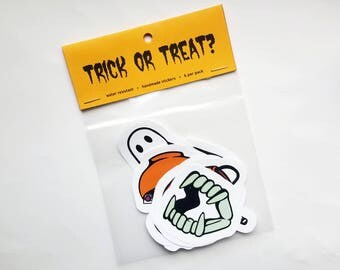 SALE - Trick or Treat? - Pack of 7 Halloween Stickers