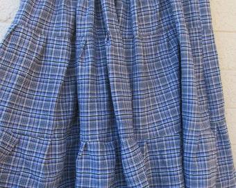 purple plaid plus size womans skirt black and purple checker tiered autumn skirt