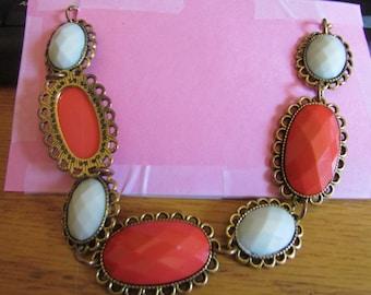 Orange cream necklace bib