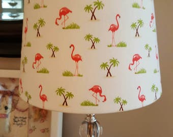 Flamingo Lamp Shade coastal beach