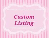 Custom listing for Krystel - Hand Painted White Wedding Hanger Pink Roses