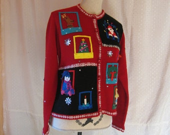Red Ugly Christmas Sweater - Ladies
