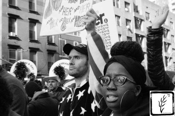 Resist, #shepersisted, New York, B&W Photograph, fine art, photo print, #whyImarch, wall art, home decor, protest, womens march