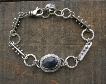 Blue sapphire and rainbow moonstone bracelet by teresamatheson