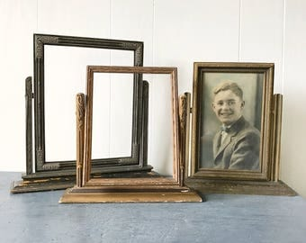 antique wooden swing frame - Edwardian table frame - 1910s 1920s picture frame - Gatsby wedding decor