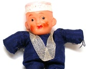 40's Navy Doll, WWII Sailor Boy, US NAVY in blue & white.