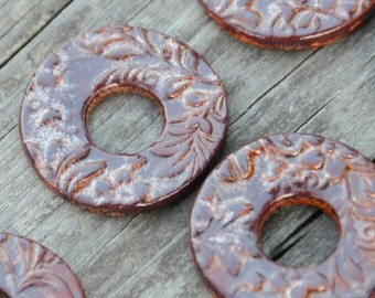 Copper Brown Washer Bead