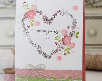 Choose Joy...Handmade Card