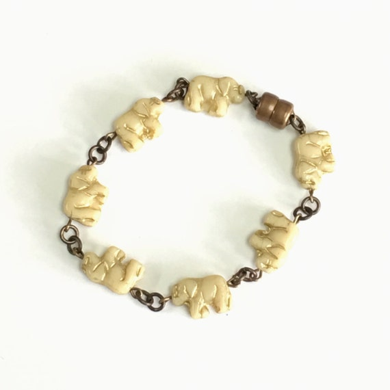 Elephant Bracelet with Magnetic Clasp