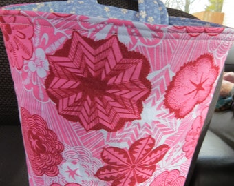 Trash Bin, Car Trash Bag, Cute Car Accessories, Headrest Bag, Trash Container, Pink and Light Blue Floral