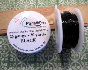 26 Gauge Black Wire from ParaWire - 30 yards