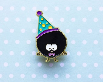 Birthday Soot Enamel Pin - sprite totoro spirited away dust bunny studio ghibli lapel