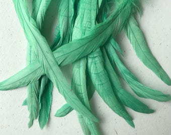 VOGUE COQUE TAIL Feathers , Satin Mint Green  / 164