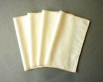 Organic Cotton Flannel Handkerchief - 100% Natural Reusable Tissue Alternative - Mens Ladies Hankerchief  -  Paperless Kleenex - Hankies