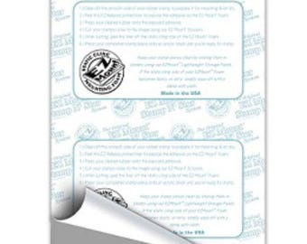 """1 Sheet  EZ MOUNT Foam 1/8"""" thick Unmounted Rubber Stamps-Static Cling EZMount-02 8.5 x 11"""