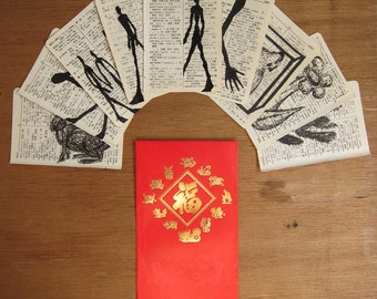 Chinese red packet mail art - original drawing - almost free REALLY