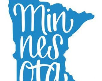 Minnesota State Vinyl Car Decal Bumper Window Sticker Any Color Multiple Sizes Jenuine Crafts