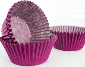 48 Purple Cupcake Liners Wrappers Baking Cups Supplies Jenuine Crafts