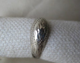 Engraved Sterling Ring Vintage size 3 925 Silver