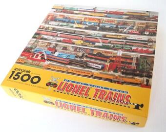 "Vintage 1990's ""Lionel Trains""  1500 Piece Springbok by Hallmark Jigsaw Puzzle, PZL9026"