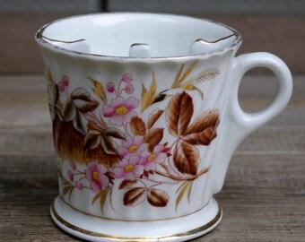 Victorian Porcelain Mustache Shaving Cup Mug