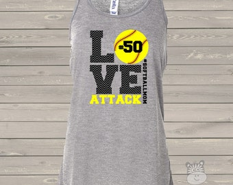 Softball mom tank top flowy   -LOVE   great gift for birthday or Mother's Day softball mom shirt