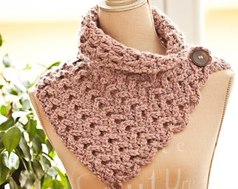 Crochet PATTERN - Chevron Scarf - Cowl (Instant download)
