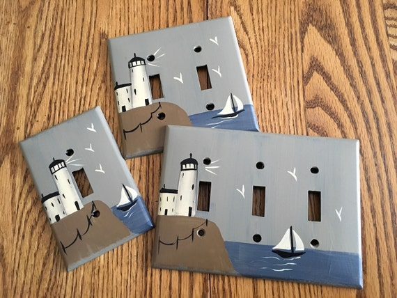 Primitive lighthouse switch plate covers for Lighthouse switch plates