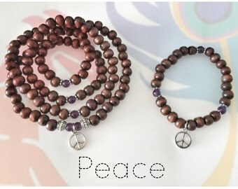 DIY - Make Your Own Mala Beads Kit - PEACE